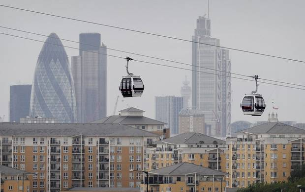 Thames Cable Car in London (Emirates AirLine)